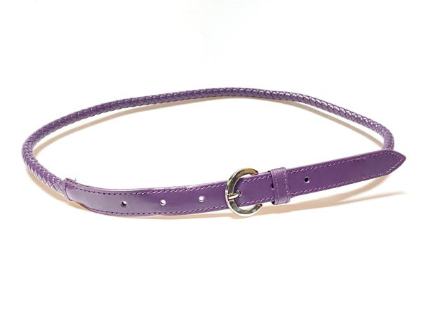 Purple Braided Belt