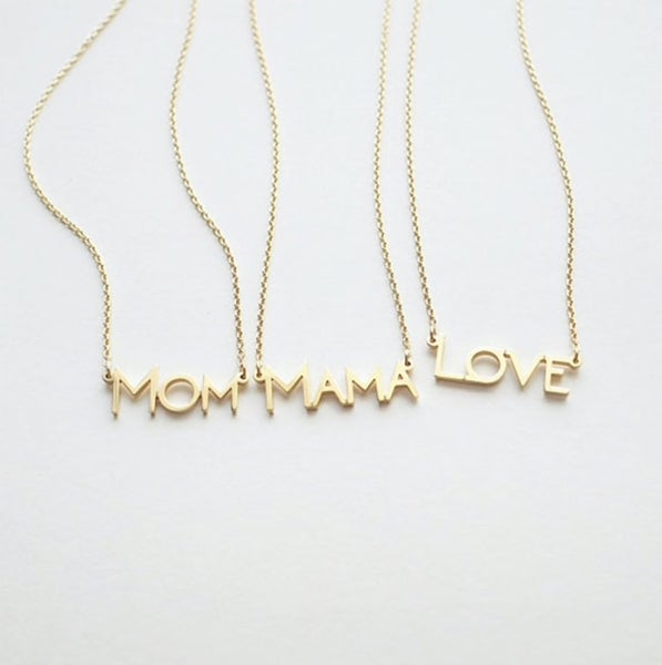 Mom and Love necklace