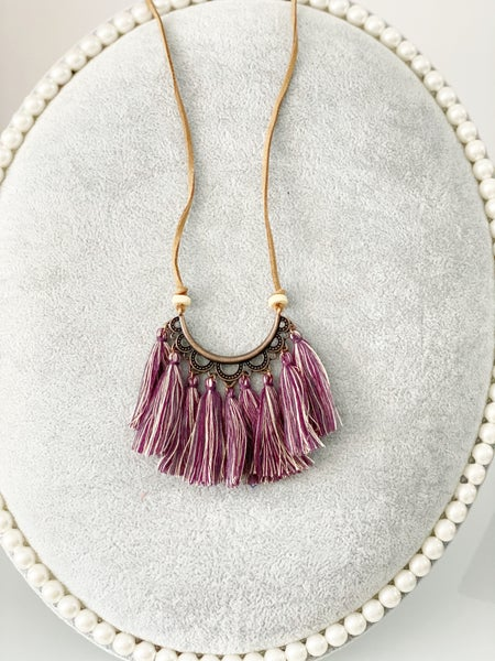 Boho Leather Tassel