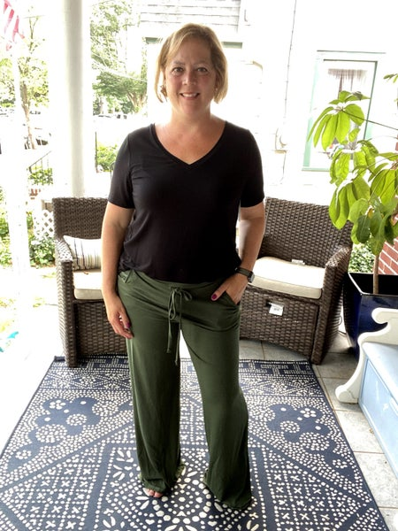 Lounging Around Pants - Army Green