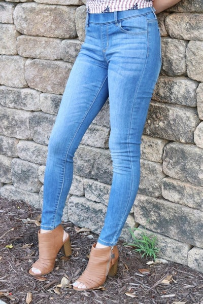 Pull On Skinny Jeans  Medium Denim