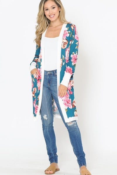 Long Cardigan Floral