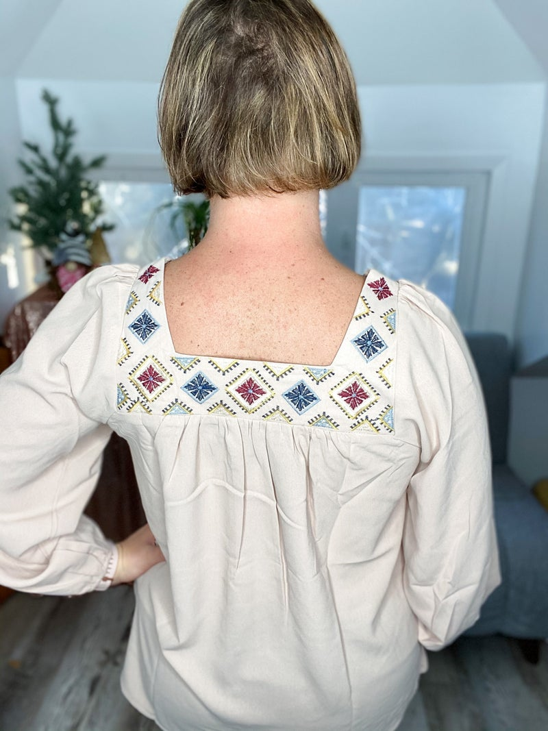 Hot Toddy Embroidered Top