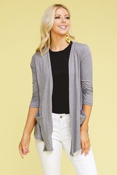 Keeping it Light Cardigan - Heather Grey