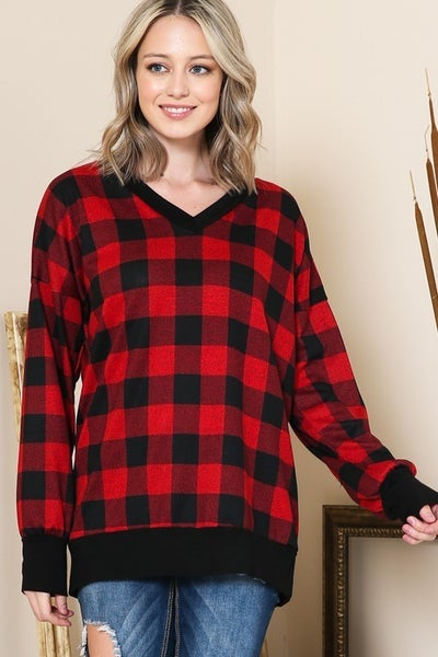 Cuddle Up Plaid Tunic