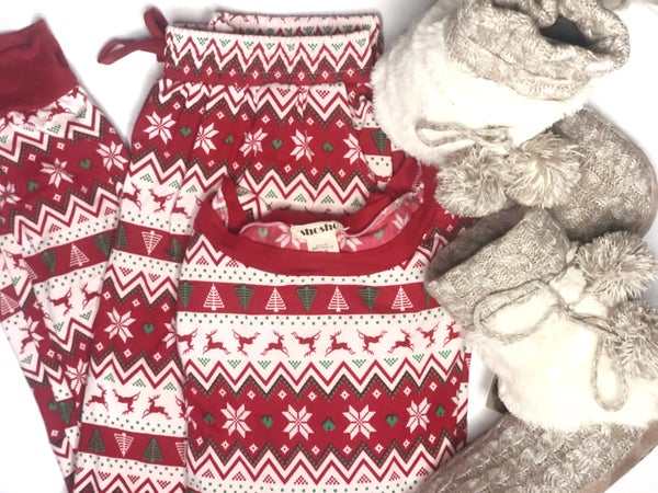 Fair Isle Reindeer Pajama Set *Final Sale*