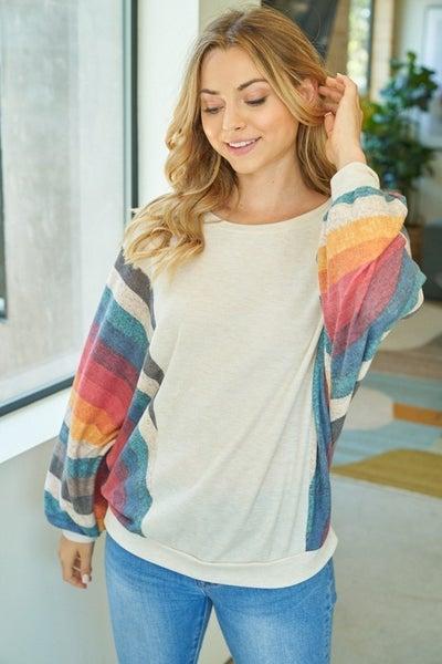 Lucie Rainbow Sleeve Top