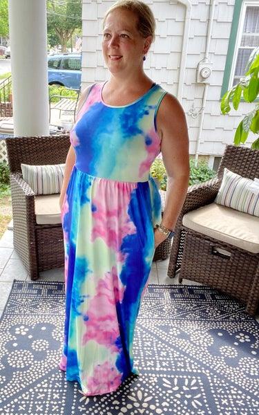 Over the Rainbow Maxi Dress