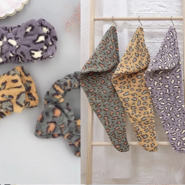 Leopard Hair Towel Set