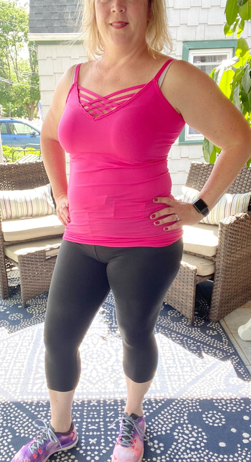 Black Leggings Capri - Peach Skin