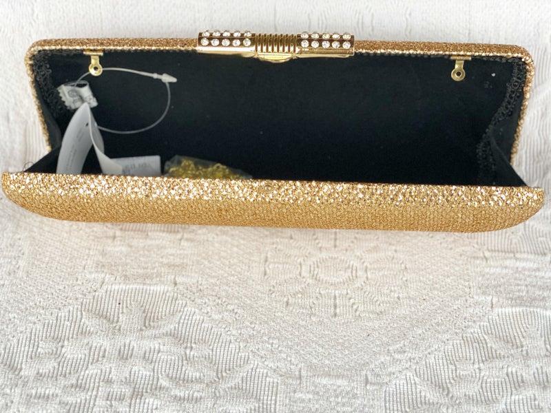 Evening Bags Long Gold Glitter