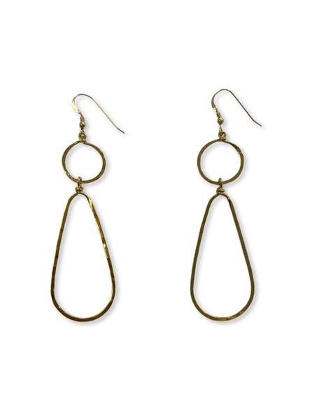 Love, Poppy Circle + Teardrop Earrings - Gold