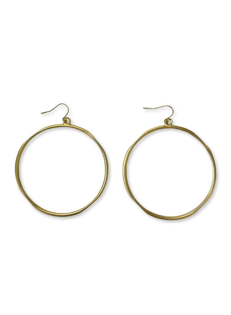 Jennifer Thames Gold Hoops