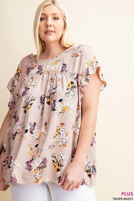 PLUS/REG Floral Fabulous Top