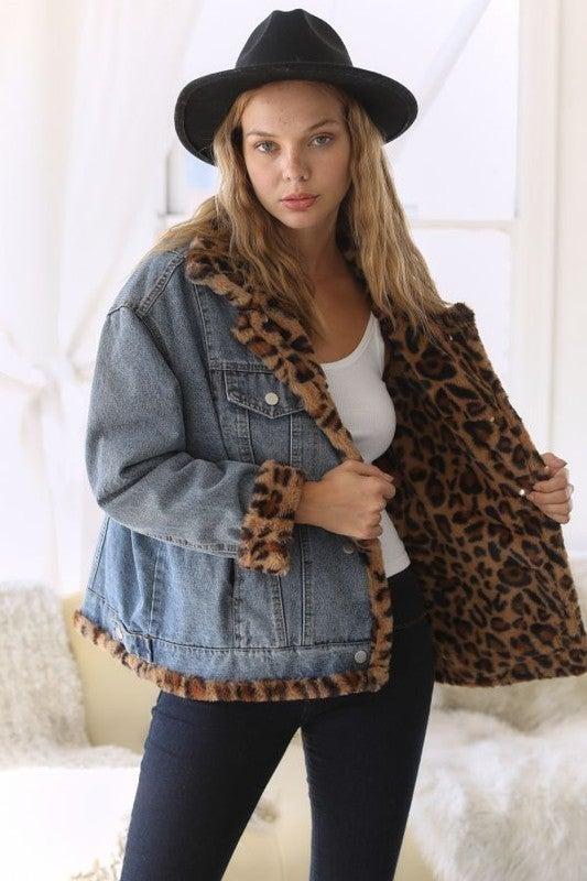 Reg/Plus Snuggle In Leopard Jacket