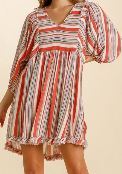 REG/PLUS Give Me Love Babydoll Dress-Orange