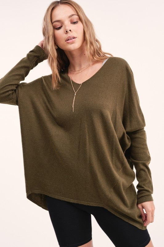 Melly Lightweight Sweater - Olive