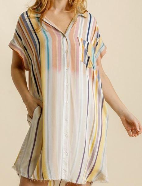 REG/PLUS Happy Spring Pocket Dress-Honey