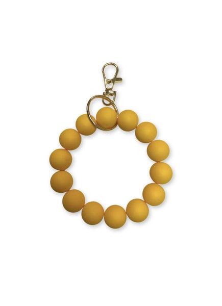 Keep Them Looking Key Ring Bracelet - Yellow