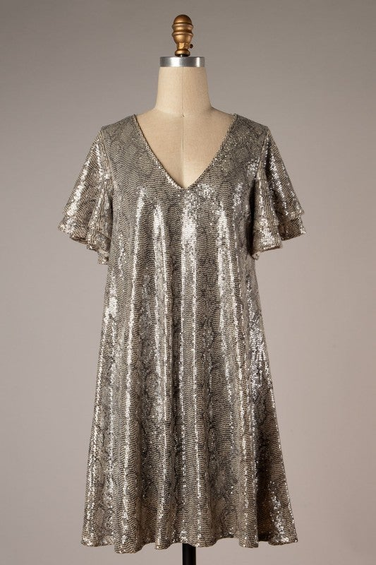 Out For The Night Sequin Dress