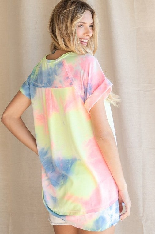 City Slicker Tie Dye Top - Pink