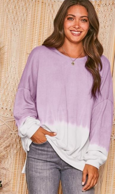 For The Love Of Ombre Sweatshirt- Lilac