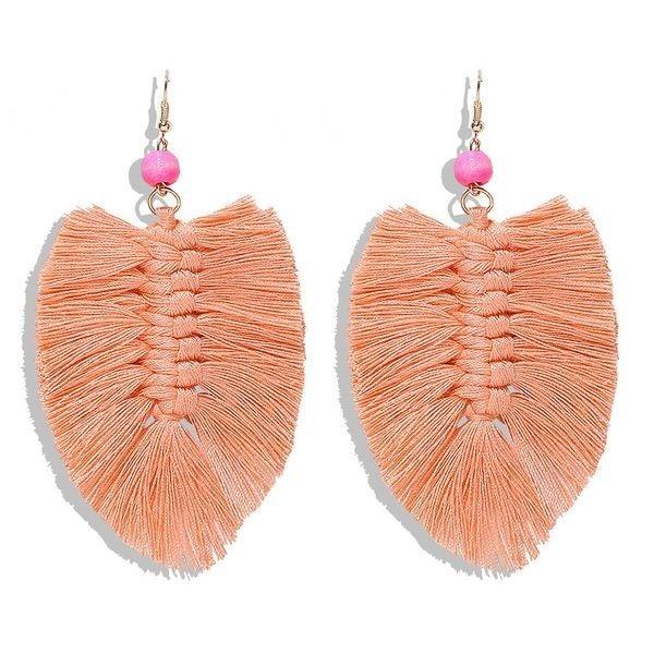 Your Biggest Fan Earrings - Coral