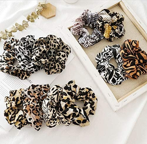 Assorted Animal Print Scrunchies