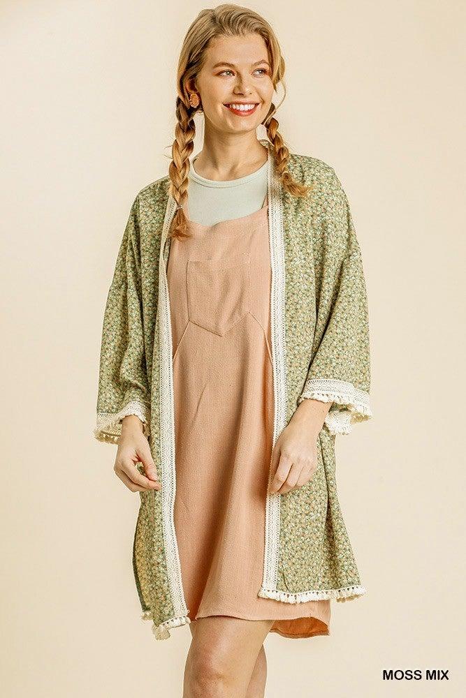 Big Dreams Kimono - Moss Mix