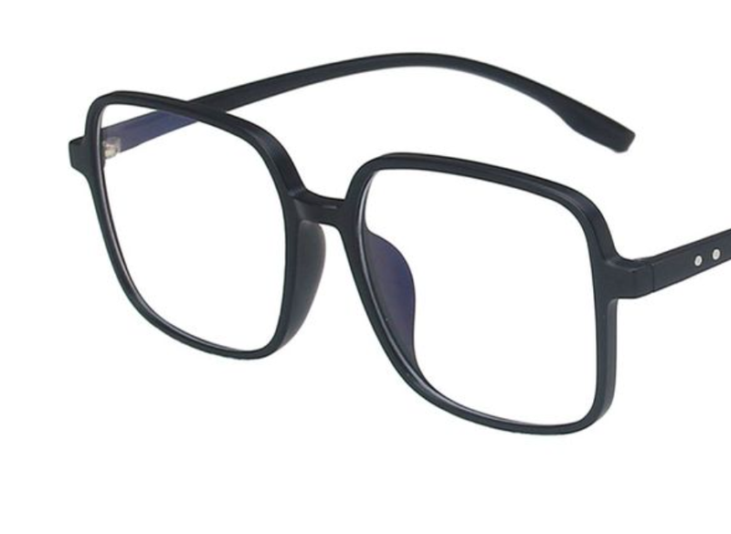 In Plain Sight Blue Light Glasses - Black Matte