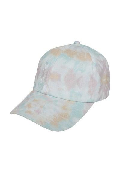 Life Is Fun Tie Dye Baseball Caps-Beige