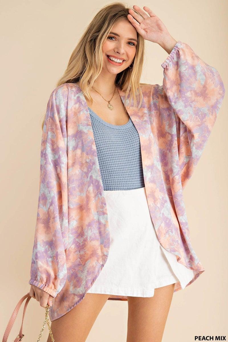 Sweet Spring Kimono - Peach