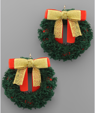 Wonderful Wreath Holiday Earrings