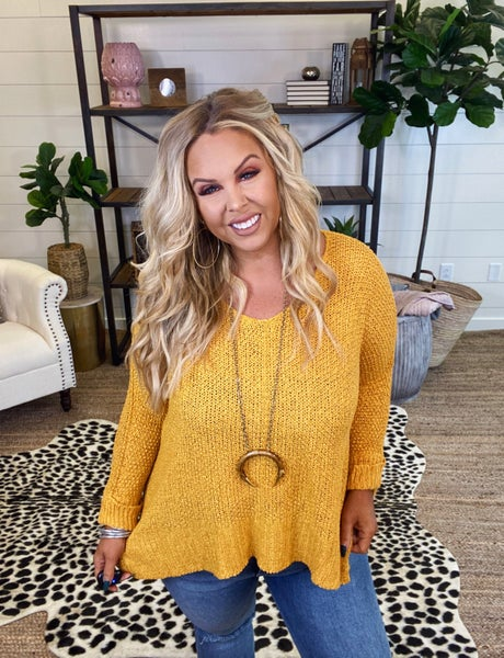 Barely There Top - Mustard
