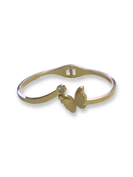 Love, Poppy Butterfly Snap Bracelet