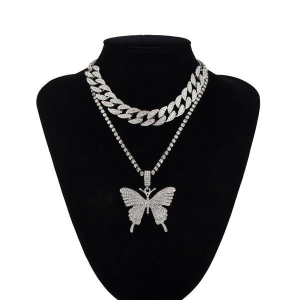 Come Fly With Me Butterfly Necklace - White