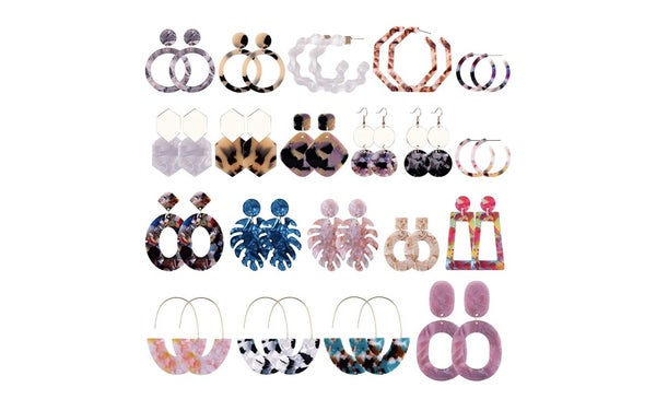 Grab Bag Style Earrings - One Pair