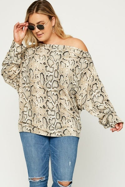 Slither and Hiss Snakeskin Top