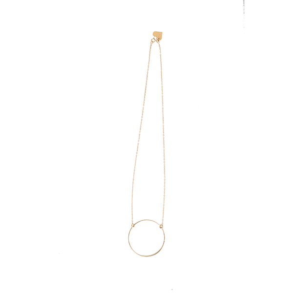 Love, Poppy Short Hoop Necklace