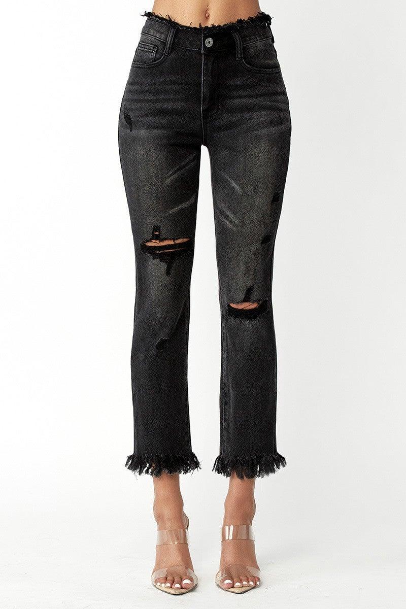 Remember Me Straight Leg Jeans - Black