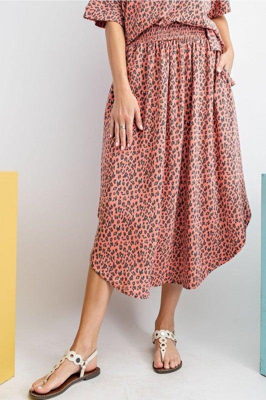 Leaping Leopard Skirt