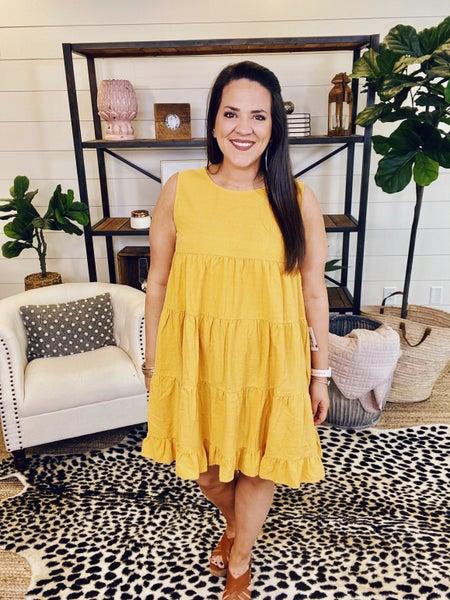 Sweet Surrender Babydoll Dress - Golden