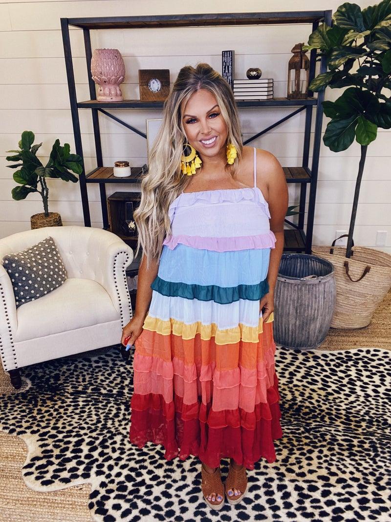 Feel The Colors Dress - Rainbow