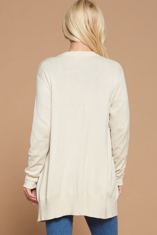 Reg/Plus Going Places Knit Cardigan - Oatmeal