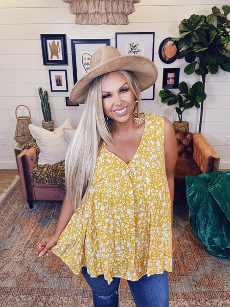 Sunshine Dreams Top-Mustard