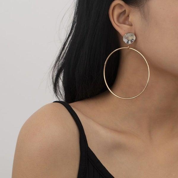 Copper Love Hoop Earrings