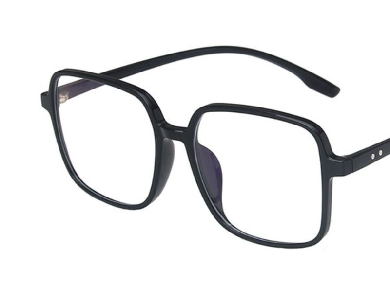 In Plain Sight Blue Light Glasses - Black Gloss