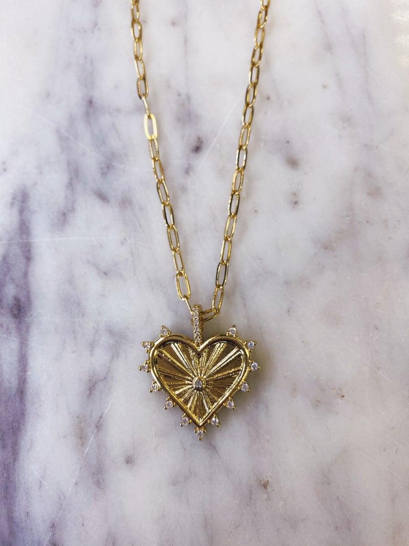 Jennifer Thames - Heart Necklace