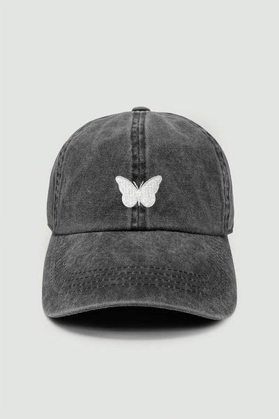 Fly High Butterfly Baseball Cap - Black