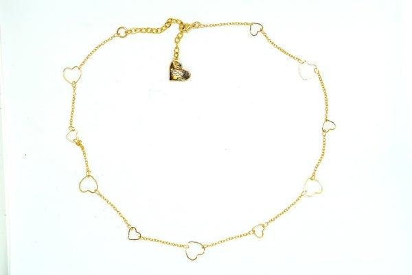 Love, Poppy Heart Choker Necklace
